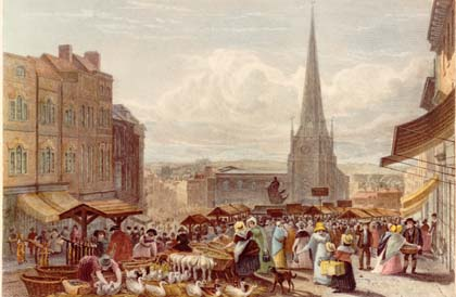 Bull Ring and St. Martins 1820s