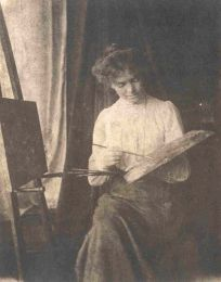 Edith Holden at her easel